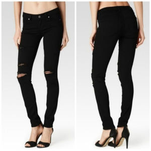 Paige Verdugo Skinny Black Eclipse Destructed Jean